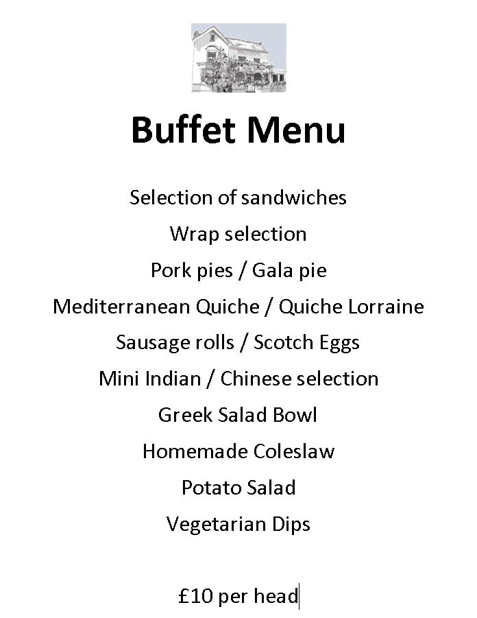 A Sample Buffet Menu