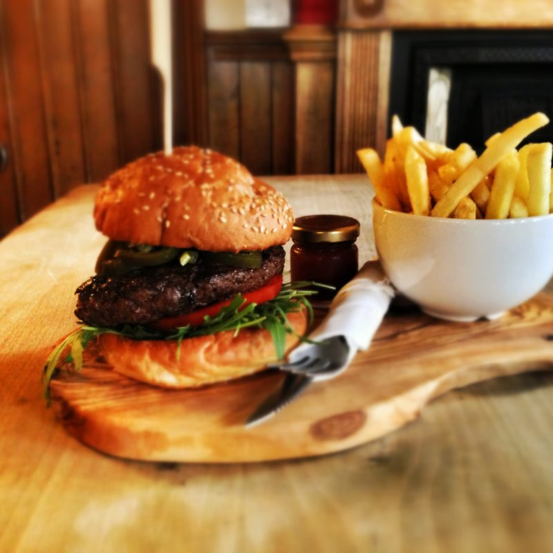 Burger and Chips